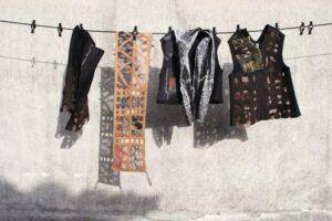 JRTex Window Pane Series: Fine wool, silk and polyester fabric, novelty yarns